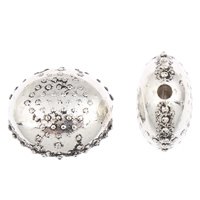 Zinc Alloy Flat Beads, Flat Oval, antique silver color plated, 22x20x12mm, Hole:Approx 2mm, 30PCs/Bag, Sold By Bag