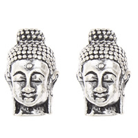 Buddhist Beads, Zinc Alloy, Buddha, antique silver color plated, Buddhist jewelry, lead & cadmium free, 14x22x14mm, Hole:Approx 2mm, Sold By PC