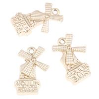 Zinc Alloy Pendants, Pinwheel, real gold plated, 14x20x3mm, Hole:Approx 1mm, 10PCs/Bag, Sold By Bag