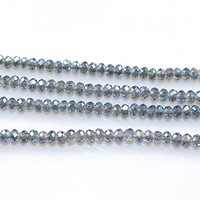 Rondelle Crystal Beads, colorful plated, faceted, 2mm, Hole:Approx 0.5mm, Length:Approx 15 Inch, 30Strands/Lot, Approx 200PCs/Strand, Sold By Lot