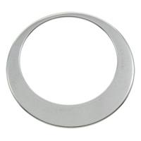 Roestvrij staal ring connectors, Donut, oorspronkelijke kleur, 33x1mm, Gat:Ca 19.8mm, 100pC's/Bag, Verkocht door Bag