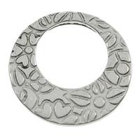Roestvrij staal ring connectors, Donut, zwart maken, 20x1mm, Gat:Ca 11.9x11.6mm, 100pC's/Bag, Verkocht door Bag