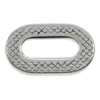 Roestvrij staal ring connectors, Plat Ovaal, zwart maken, 20x12x2mm, Gat:Ca 4.5x12.8mm, 100pC's/Bag, Verkocht door Bag