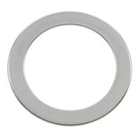 Roestvrij staal ring connectors, Donut, oorspronkelijke kleur, 27x1mm, Gat:Ca 20mm, 100pC's/Bag, Verkocht door Bag