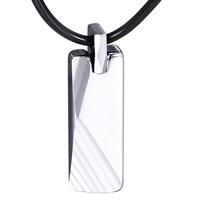 Подвеска из вольфрамовой стали, Вольфрама сталь, Прямоугольная форма, Мужский, оригинальный цвет, 10x35mm, отверстие:Приблизительно 3mm, продается PC