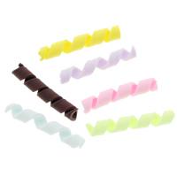 Кабошоны из полимерной глины, полимерный клей, Связанный вручную, Много цветов для выбора, 29x5mm, 100ПК/сумка, продается сумка