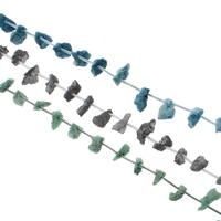 Druzy Koraliki, Agat kwarc lodowy, Naturalne, styl druzy, dostępnych więcej kolorów, 10x17x13-11x17x14mm, otwór:około 1mm, 25komputery/Strand, sprzedawane na około 15.5 cal Strand