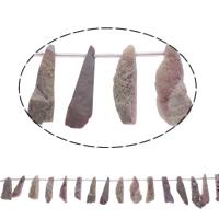 Druzy Koraliki, Agat kwarc lodowy, Naturalne, styl druzy, różowy, 13x31x12-16x39x10mm, otwór:około 1mm, 20komputery/Strand, sprzedawane na około 15.5 cal Strand