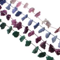Druzy Koraliki, Agat kwarc lodowy, Naturalne, styl druzy, dostępnych więcej kolorów, 10x16-14x20mm, otwór:około 1mm, 21komputery/Strand, sprzedawane na około 15.5 cal Strand