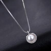 Srebrny naszyjnik z perłami, Srebro 925, ze Perła naturalna słodkowodna, naturalny & pole łańcucha, 10-15mm, sprzedawane na około 15 cal Strand