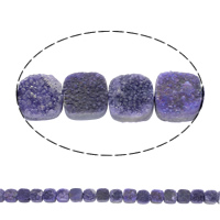 Druzy Beads, Ice Quartz Agate, Square, natural, druzy style, purple, 10x5mm, Hole:Approx 1mm, 20PCs/Strand, Sold Per Approx 8 Inch Strand