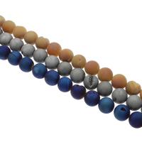 Druzy бисер, Чистый кварц, Круглая, Другое покрытие, природный & druzy стиль, Много цветов для выбора, 20mm, отверстие:Приблизительно 1mm, 20ПК/Strand, Продан через Приблизительно 15.5 дюймовый Strand