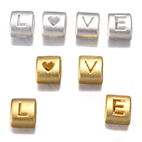 99% Sterling Silver Slide Charm, word love, plated, more colors for choice, 7x8.50x5.50mm, Hole:Approx 3x6mm, 5Sets/Lot, 4PCs/Set, Sold By Lot