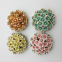 Мода Вешалка мешка, цинковый сплав, Chrysamthemum, Другое покрытие, эмаль & со стразами, Много цветов для выбора, не содержит никель, свинец, 45x65x20mm, 3PC/Лот, продается Лот