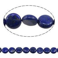 Koraliki Lapis Lazuli, Lapis lazuli naturalny, Płaskie koło, 12x4-6mm, otwór:około 1.5mm, długość:około 15.5 cal, 2nici/wiele, około 33komputery/Strand, sprzedane przez wiele