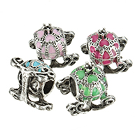 Zinc Alloy European Beads, antique silver color plated, without troll & enamel, more colors for choice, nickel, lead & cadmium free, 14x12.50mm, Hole:Approx 5mm, 100PCs/Lot, Sold By Lot