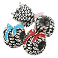 Zinc Alloy European Beads, antique silver color plated, without troll & enamel, more colors for choice, nickel, lead & cadmium free, 9x11x9.50mm, Hole:Approx 4.5mm, 200PCs/Lot, Sold By Lot