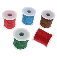 Wax Cord, Waxed Cotton Cord, with plastic spool, more colors for choice, 1mm, 100Yards/Spool, Sold By Spool