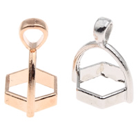Zinc Alloy Pendant Bail plated lead   cadmium free Hole:Approx 3x3mm 100PCs/Bag