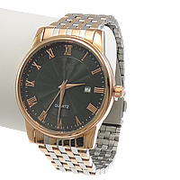 Unisex Wrist Watch, Stainless Steel, with Glass, plated, two tone, 45x44mm, 18mm, Length:Approx 12 Inch, 2PCs/Lot, Sold By Lot