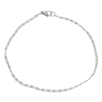 Stainless Steel Jewelry Bracelet, valentino chain, original color, 5x2x1mm, Length:Approx 8.5 Inch, 10Strands/Bag, Sold By Bag