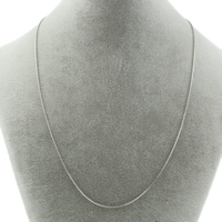 Stainless Steel Necklace Chain snake chain original color 1mm Sold Per Approx 18.5 Inch Strand