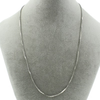 Stainless Steel Necklace Chain box chain original color 1.2mm Sold Per Approx 19.5 Inch Strand