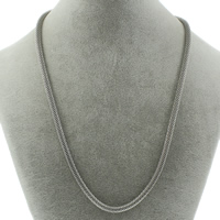 Stainless Steel Chain Necklace mesh chain original color 4mm Sold Per Approx 19.5 Inch Strand