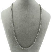 Stainless Steel Chain Necklace wheat chain original color 6mm Sold Per Approx 19.5 Inch Strand