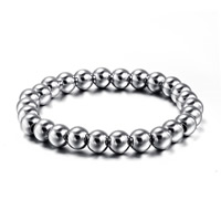 Stainless Steel Jewelry Bracelet, Round, original color, 8mm, Sold Per Approx 7.5 Inch Strand