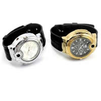 Men Wrist Watch, Silicone, with zinc alloy dial & Glass, plated, also can be used as lighter & for man, more colors for choice, 50mm, Length:Approx 9.4 Inch, Sold By PC