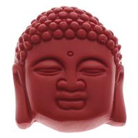 Zawieszki Cinnabar, Cynober, Budda, Buddyjski biżuteria, czerwony, 37x45x13mm, otwór:około 1mm, 10komputery/torba, sprzedane przez torba