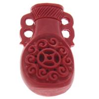 Киноварь коннектор, Ваза, петля 2/2, красный, 18x32x10mm, отверстие:Приблизительно 2mm, 10ПК/сумка, продается сумка