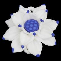 полимерный клей коннектор, Форма цветка, Связанный вручную, 1/1 петля, 49x46x20mm, отверстие:Приблизительно 2x1mm, 20ПК/сумка, продается сумка