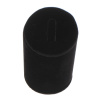Velveteen Ring Display, Column, black, 52x52x80mm, Sold By PC