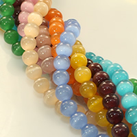 Cats Eye Jewelry Beads Round 8mm Hole:Approx 1mm Length:Approx 14 Inch 20Strands/Lot Approx 48PCs/Strand