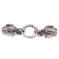 Zinc Alloy Snap Clasp, Elephant, antique silver color plated, with end cap, lead & cadmium free, 77x25x14mm, Hole:Approx 9mm, Sold By PC