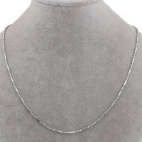 Stainless Steel Necklace Chain, ball chain, original color, 2x6mm, Sold Per Approx 17 Inch Strand