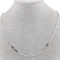 Stainless Steel Chain Necklace bar chain original color 13x1.5mm Sold Per Approx 17 Inch Strand