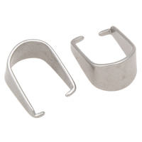 Stainless Steel Pinch Bail, original color, 6.8x13mm, 100PCs/Bag, Sold By Bag