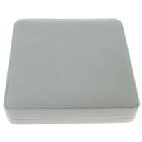 Velveteen Necklace Box, with Cardboard, Square, grey, 185x38x185mm, Sold By PC