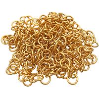Łańcuch ze stali nierdzewnej Rolo, Stal nierdzewna, Platerowane w kolorze złota, okrągłe ogniwa łańcucha, 5x0.80mm, 20m/torba, sprzedane przez torba