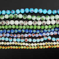 Glass Chevron Beads Round handmade Length:Approx 14 Inch