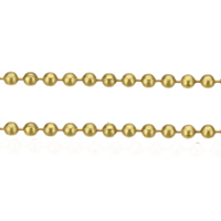 Brass Ball Chain, gold color plated, nickel, lead & cadmium free, 1mm, 100m/Lot, Sold By Lot