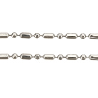 Brass Ball Chain, platinum color plated, nickel, lead & cadmium free, 1.3mm, 1.4mm, 100m/Lot, Sold By Lot