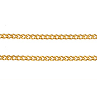 Brass Curb Chain gold color plated nickel lead   cadmium free 1.90x1.50x0.40mm 100m/Lot