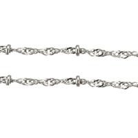 Brass Rope Chain, platinum color plated, nickel, lead & cadmium free, 2.3mm, 1.6mm, 100m/Lot, Sold By Lot