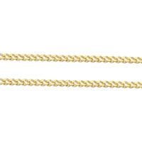 Mosiężny łańcuszek o splocie Pancerka, Mosiądz, Platerowane w kolorze złota, łańcucha krawężnika, bez zawartości niklu, ołowiu i kadmu, 1.40x1x0.40mm, 100m/wiele, sprzedane przez wiele