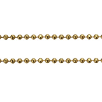 Brass Ball Chain, gold color plated, nickel, lead & cadmium free, 1.20mm, 100m/Lot, Sold By Lot
