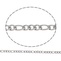 Stainless Steel Figaro Chain, different size for choice, original color, 50m/Bag, Sold By Bag